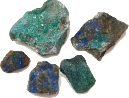 Chrysocolla A Beautiful Stone Coated With Green And Blue Paint Forms As Copper Decomposes