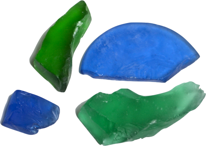 Sea Glass - A beachcomber's favorite - sea glass starts off as a piece off of a broken bottle and is worn smooth over decades by continuously being tumbled in the ocean. It can take 20 to 50 years to achieve a smooth, round and frosted appearance which is prized by collectors. Hint: our sea glass is mechanically tumbled and is created under a much faster timeframe.