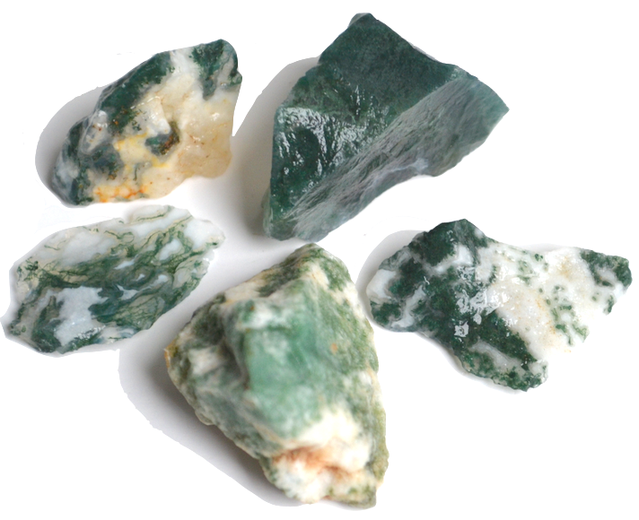 Moss Agate As The Name Suggests This Type Of Green And White Looks Like It Has Growing Inside Stone Can Be Found In A