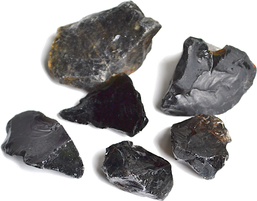 Obsidian Typically Jet Black Is A Natural Volcanic Gl Formed When Lava Cools Rapidly The Gly Texture Can Be Shaped Into Sharp Edges And